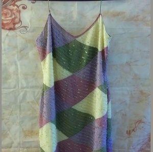 Hugo Buscati Collection beaded silk dress size 2